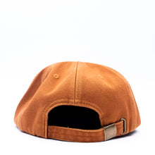 Orange Unstructured 6 Panel Hat adjustable strapback