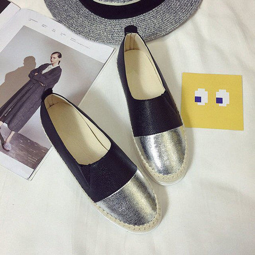 Glitter Loafers Slip On Flats Woman Casual Spring Women Flat Shoes