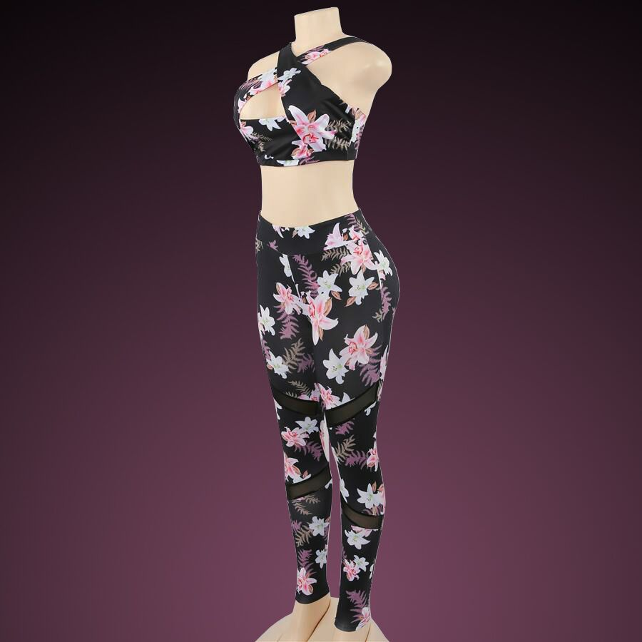 Flower bomb / 2 piece set / tops and long leggings