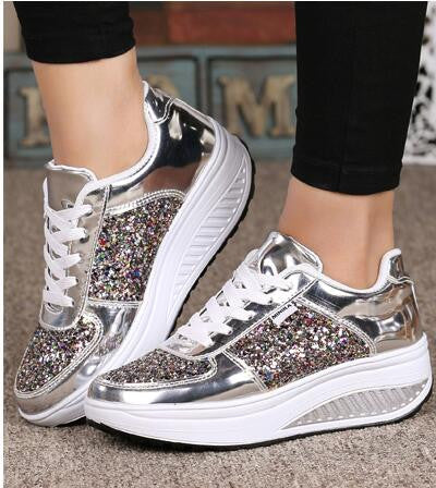 Sequined Casual Shoes Sport Fashion