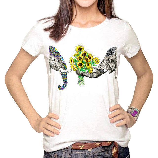 3D Pineapple Print T-shirt Graphic Tee