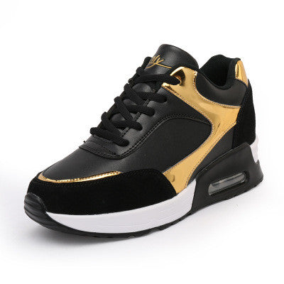 Gold / Silver Hidden Wedge Sporty Shoes