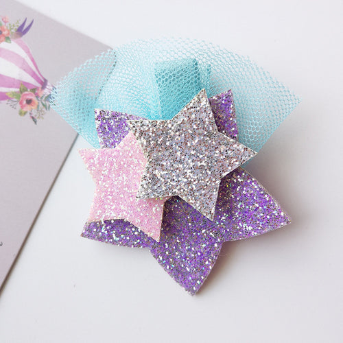 New Shining Unicorn Star Girls Hair Clips