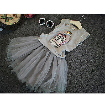 Toddler Sleeveless Tutu Dress Set