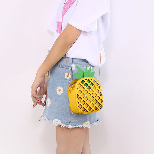 Cute Pineapple Messenger Bag With Chain