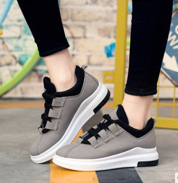 Platform Casual Shoes Summer Lace-Up Breathable