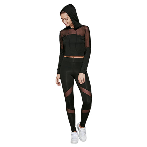 Sexy Visible Slimming Cropped Pullover Sweatshirts and Leggings Set