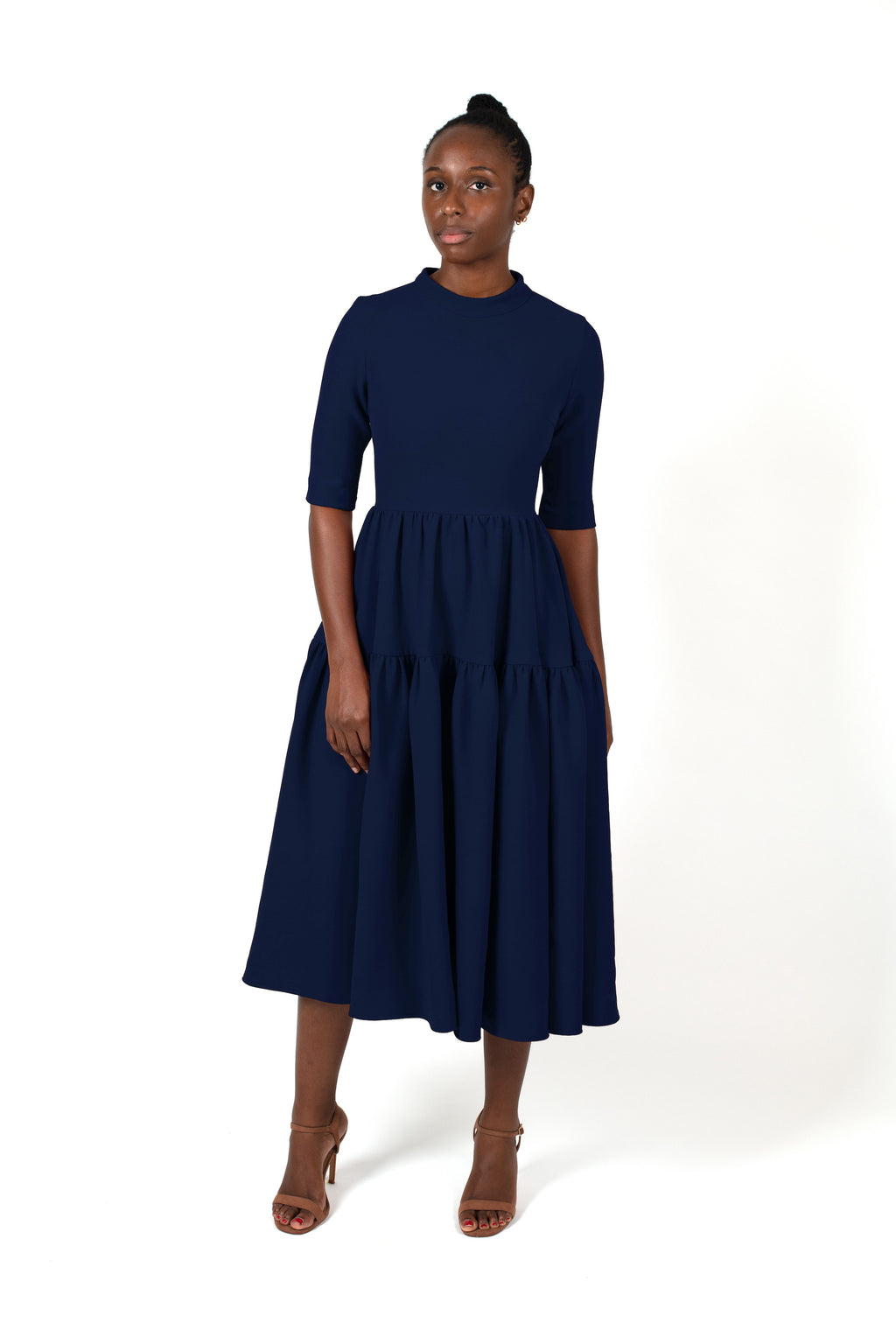 Chichi Dress in Navy Blue