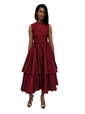 Salma Dress in Burgundy