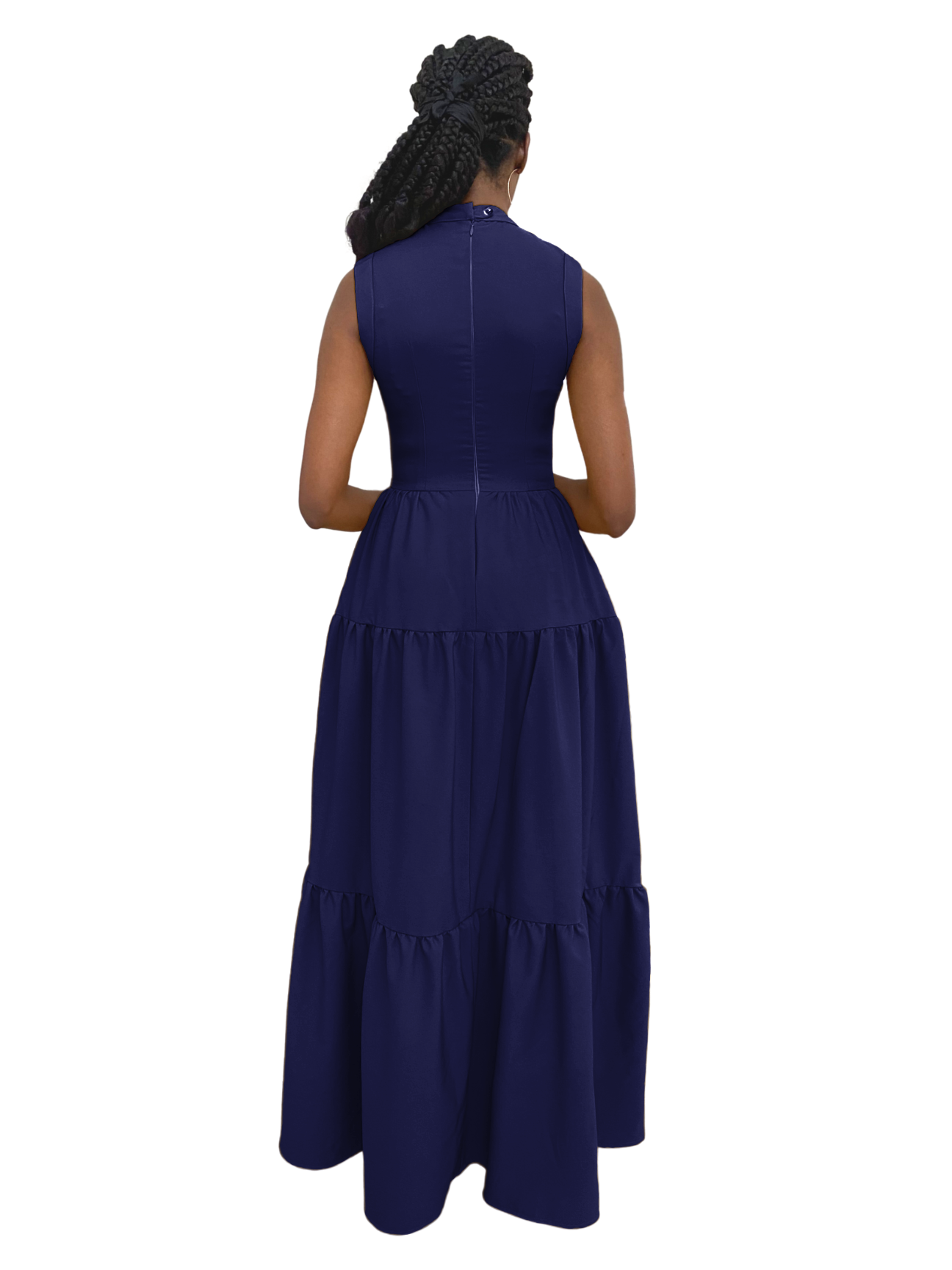 Zina Lite Dress in Navy Blue