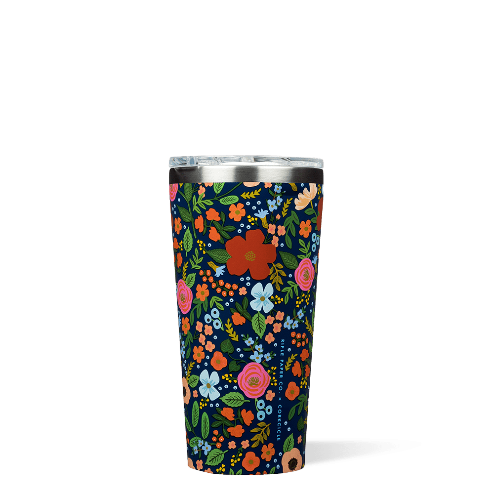 Corkcicle 16oz Tumbler, Navy Wild Rose