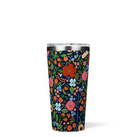 Navy Wild Rose 16 oz. Corkcicle Tumbler