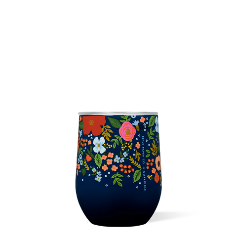 Navy Wild Rose Stemless Corkcicle