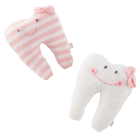 Pink Tooth Knitted Pillows