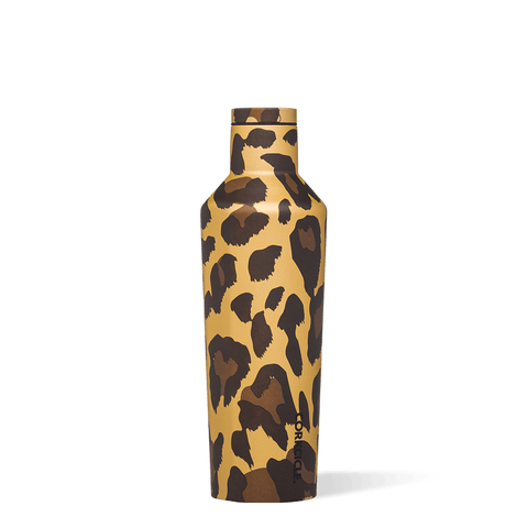 Corkcicle 16oz Canteen, Luxe Leopard