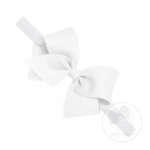 Small Classic Grosgrain Bow on Baby Band