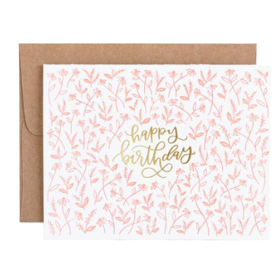 Tiny Floral Birthday Card