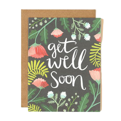 Greeting Card, Get Well Floral