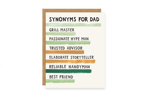 Greeting Card, Synonyms for Dad