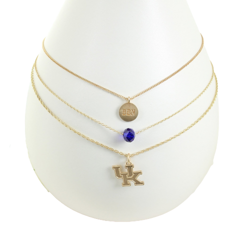 UK Matte Gold Trio Necklace