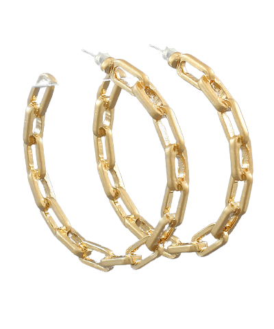 Chain Hoops, Gold