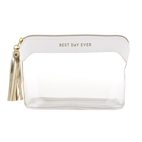Best Day Ever Clear Travel Pouch
