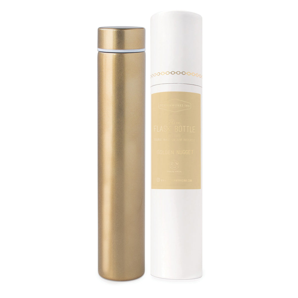 Slim Flask Bottle, Golden Nugget