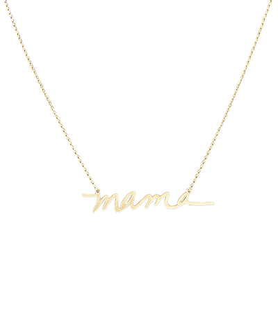Mama Necklace, Brushed Gold