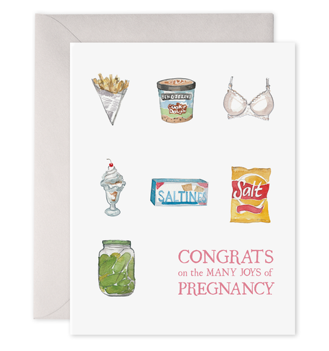 Greeting Card, Preggie Snacks