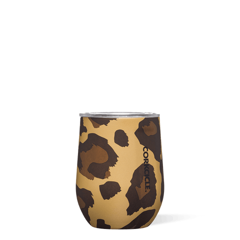 Corkcicle 12oz Stemless, Luxe Leopard