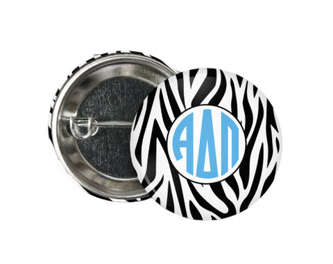 Sorority Zebra Buttons