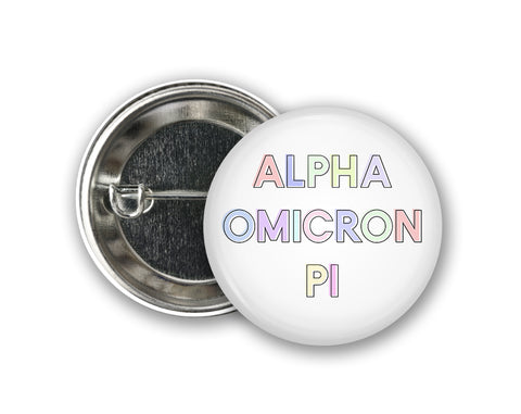 Sorority Pastel Buttons