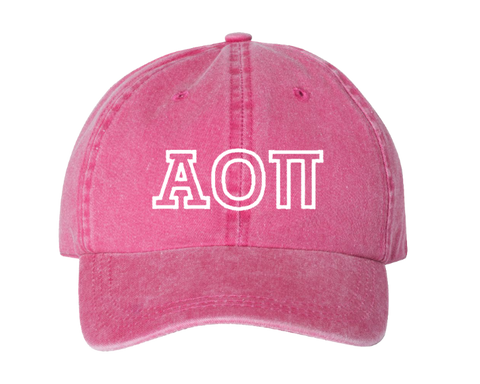 AOII Sorority Outline Cap