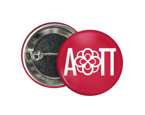 AOII Infinity Rose Button