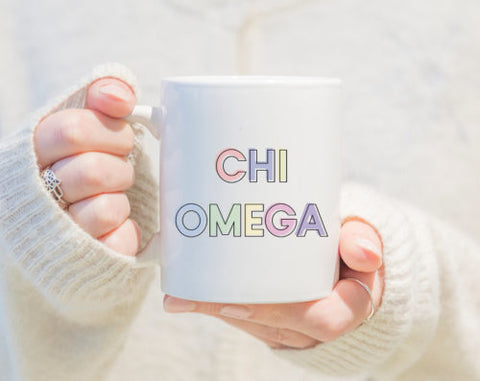Sorority Pastel Mugs