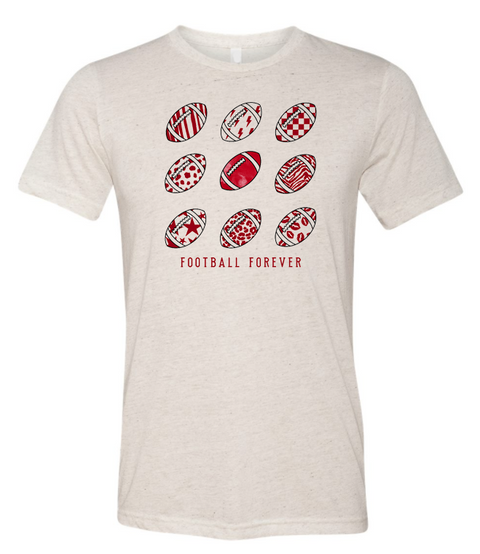 Football Forever Tee, Red
