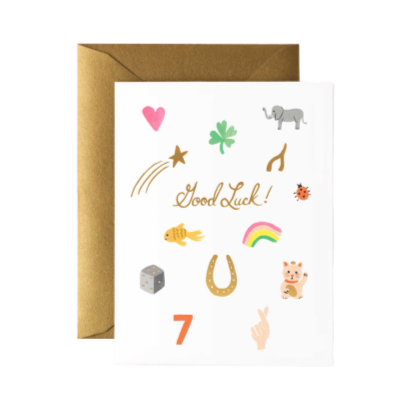 Greeting Card, Good Luck Charms