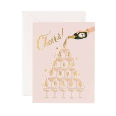Greeting Card, Champagne Tower