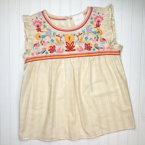 Butter Yellow Embroidered Top