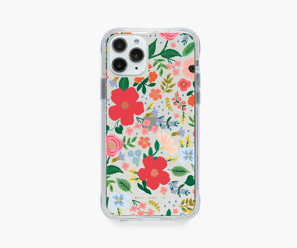 Rifle Paper iPhone 11 Pro/Xs/X Case, Clear Wild Rose