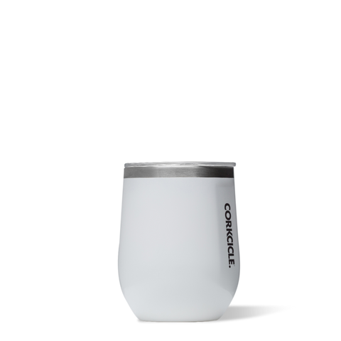 Corkcicle 12oz Stemless, White