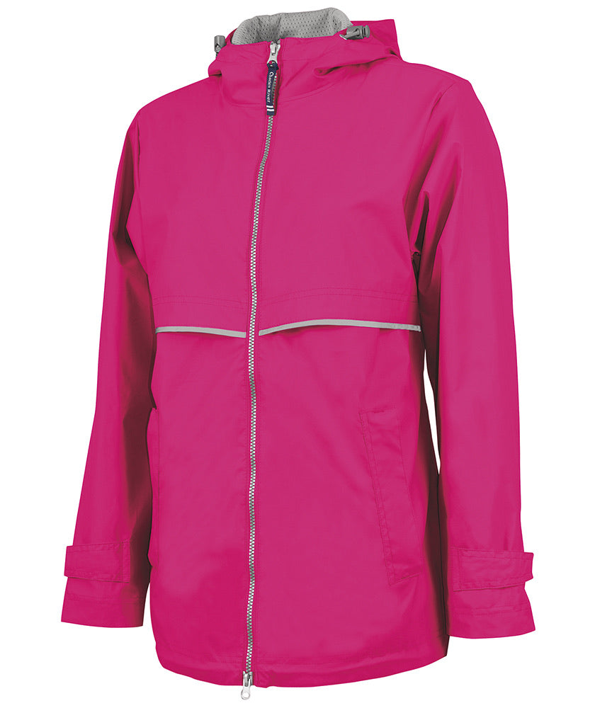New Englander Rain Jacket, Hot Pink