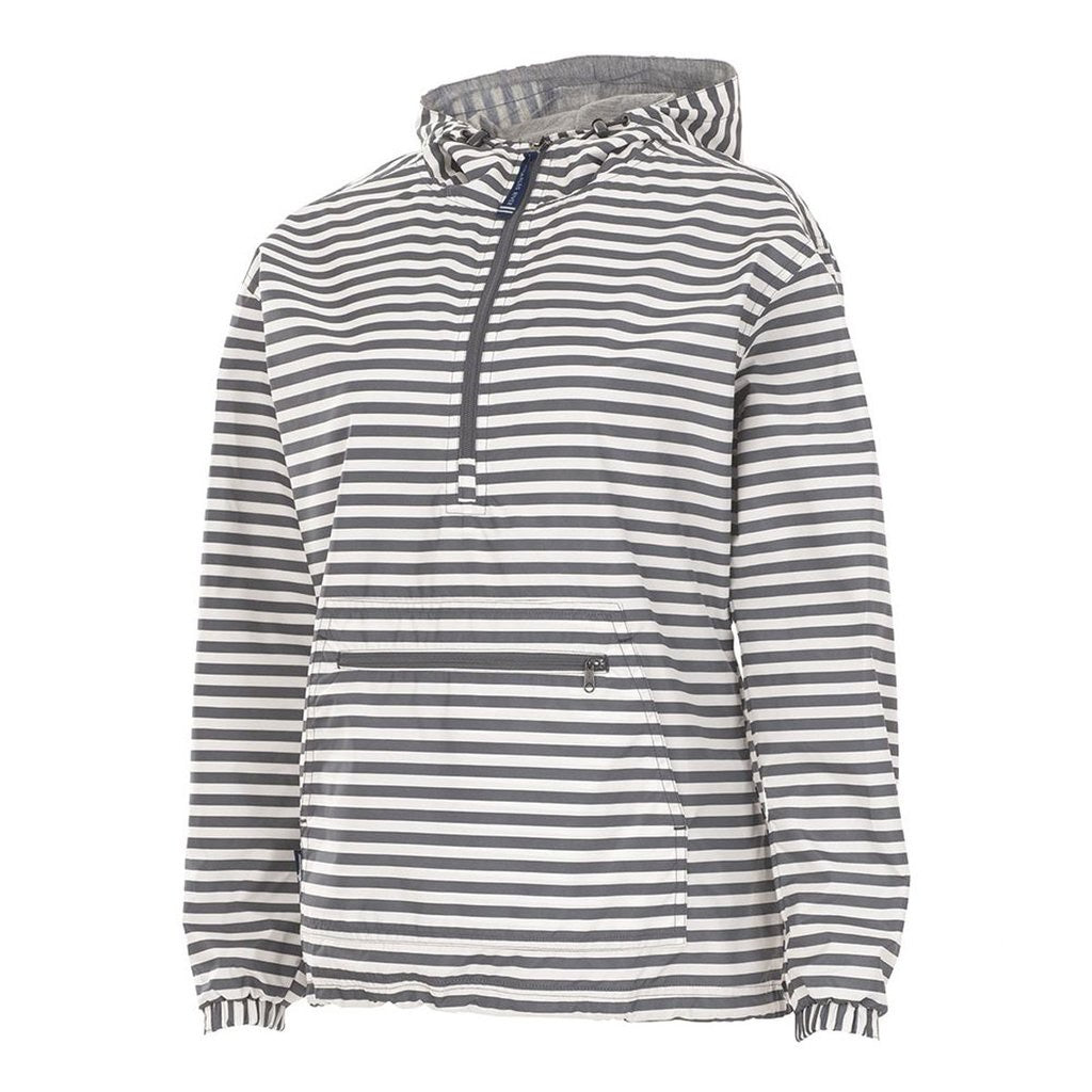 Gray Stripe Chatham Printed Anorak