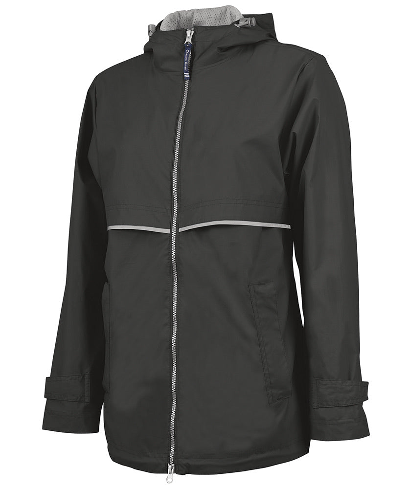 New Englander Rain Jacket, Black