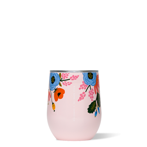Blush Lively Floral Stemless Corkcicle