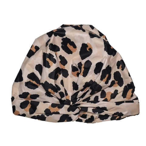 Luxe Shower Cap, Leopard
