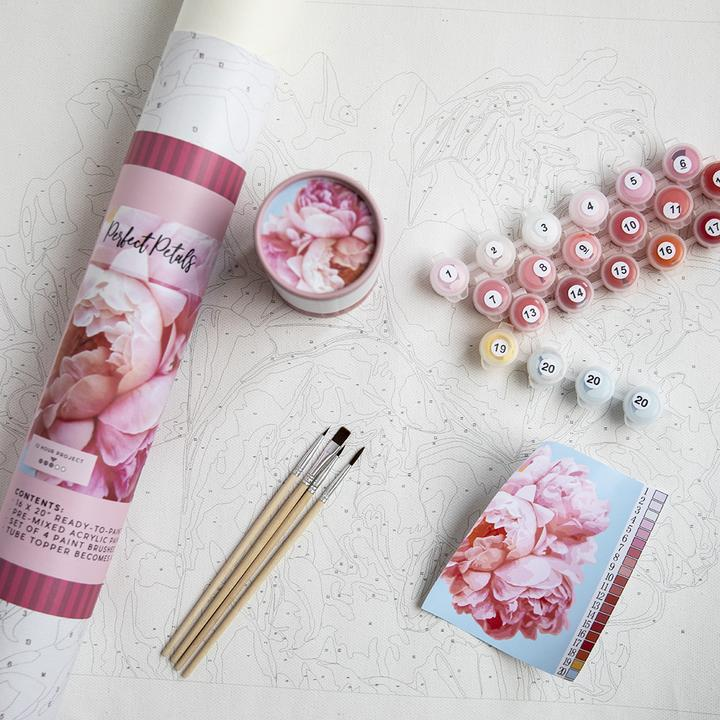 Paint By Number Kit, Perfect Petals