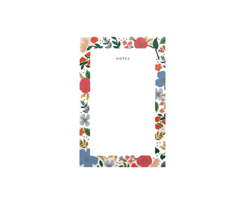 Rifle Paper Wild Rose Blank Notepad