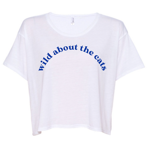 Wild About The Cats Cropped Tee