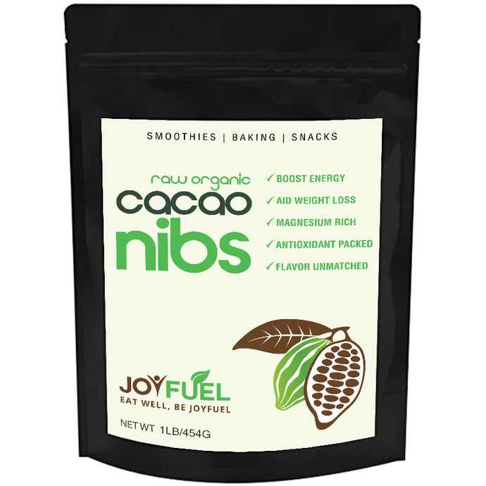 Joyfuel Raw Organic Cacao Nibs (2 Sizes: 16oz & 32oz)